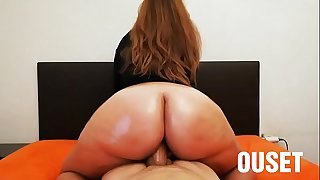I fuck my wife's huge oiled ass