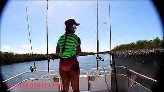 HD Lil' Asian Thai Heather Deep goes fishing and plays hide the hotdog in the pussy and deep