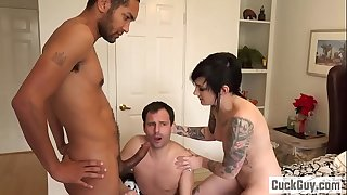 Nikki turns her hubby into a little cuckold bitch