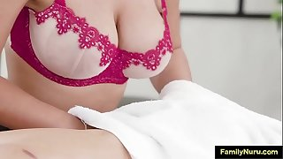 Stepsister with big tits mind-blowing massage scene